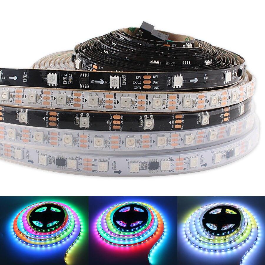 WS2812 Led Strip Light 5M 5 V PC RGB 5V led Tape Volt Neon WS2812B For TV Backlight