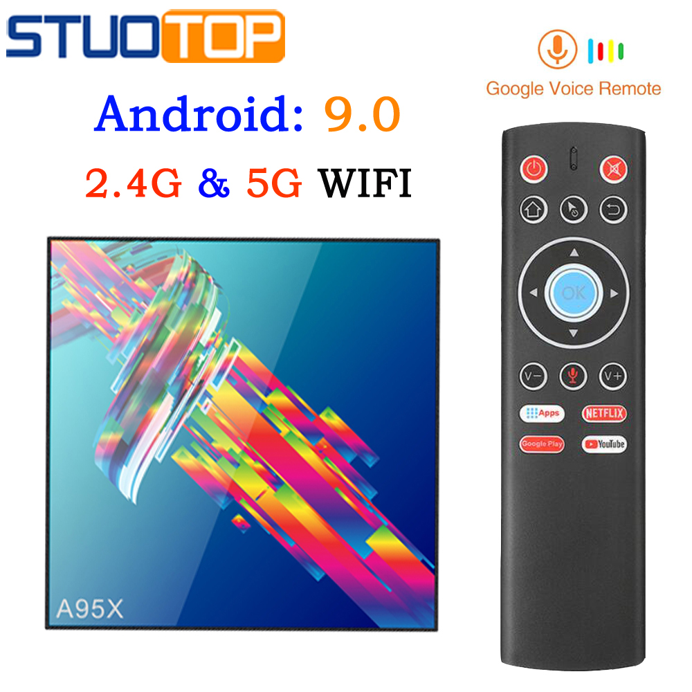 Smart Iptv Android 9.0 Tv Box 4G 32G 64G 2.4G 5G WIFI 4K Media Player Netflix Youtube Google Voice Assistant A95X R3