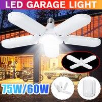 Super brillante iluminación Industrial 60W 75W E27 Led ventilador Luz de garaje 4800LM 85-265V 2835 Led alta Bahía lámpara Industrial para taller