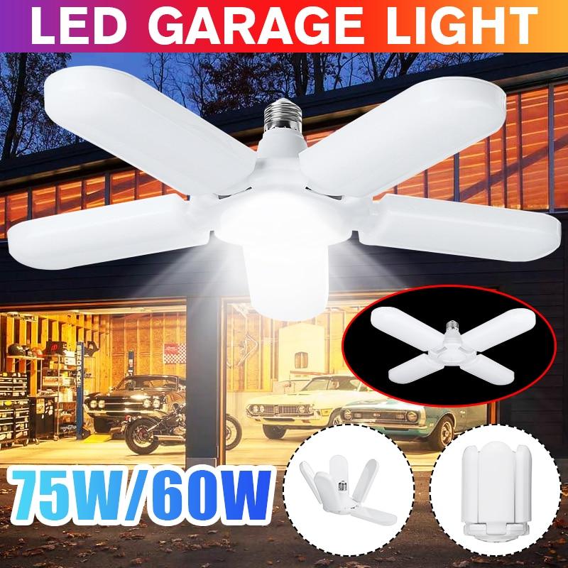 Super Bright Industrial Lighting 60W 75W E27 Led Fan Garage Light 4800LM 85-265V 2835 Led High Bay Industrial Lamp For Workshop