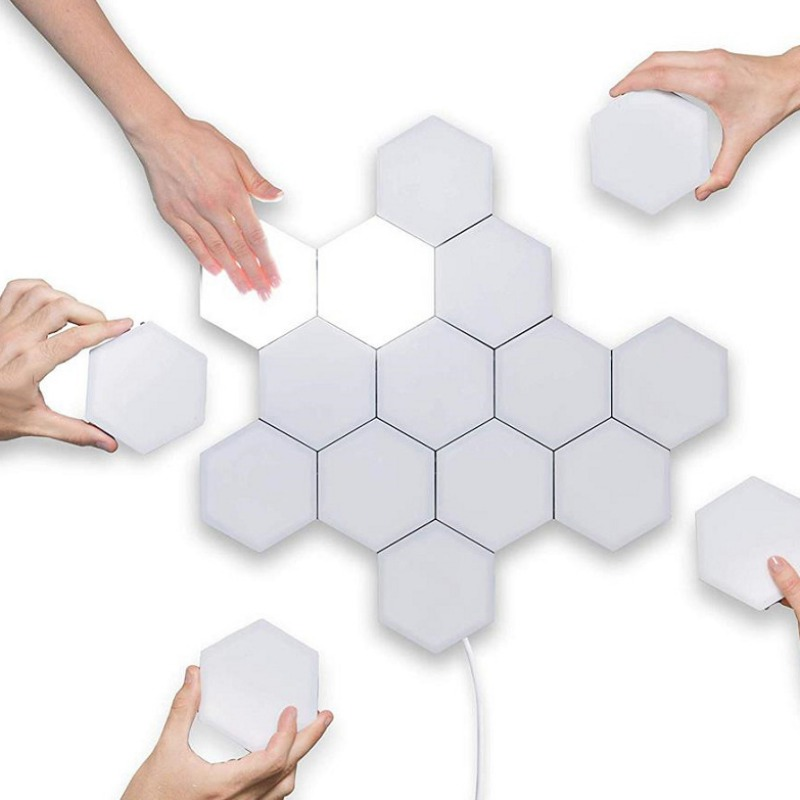 Panel Lamp Novelty Night Light Anti-gravity Light Magnetic Creative Decoration LED Touch Sensitive Modular Light Wall Lamp DIY