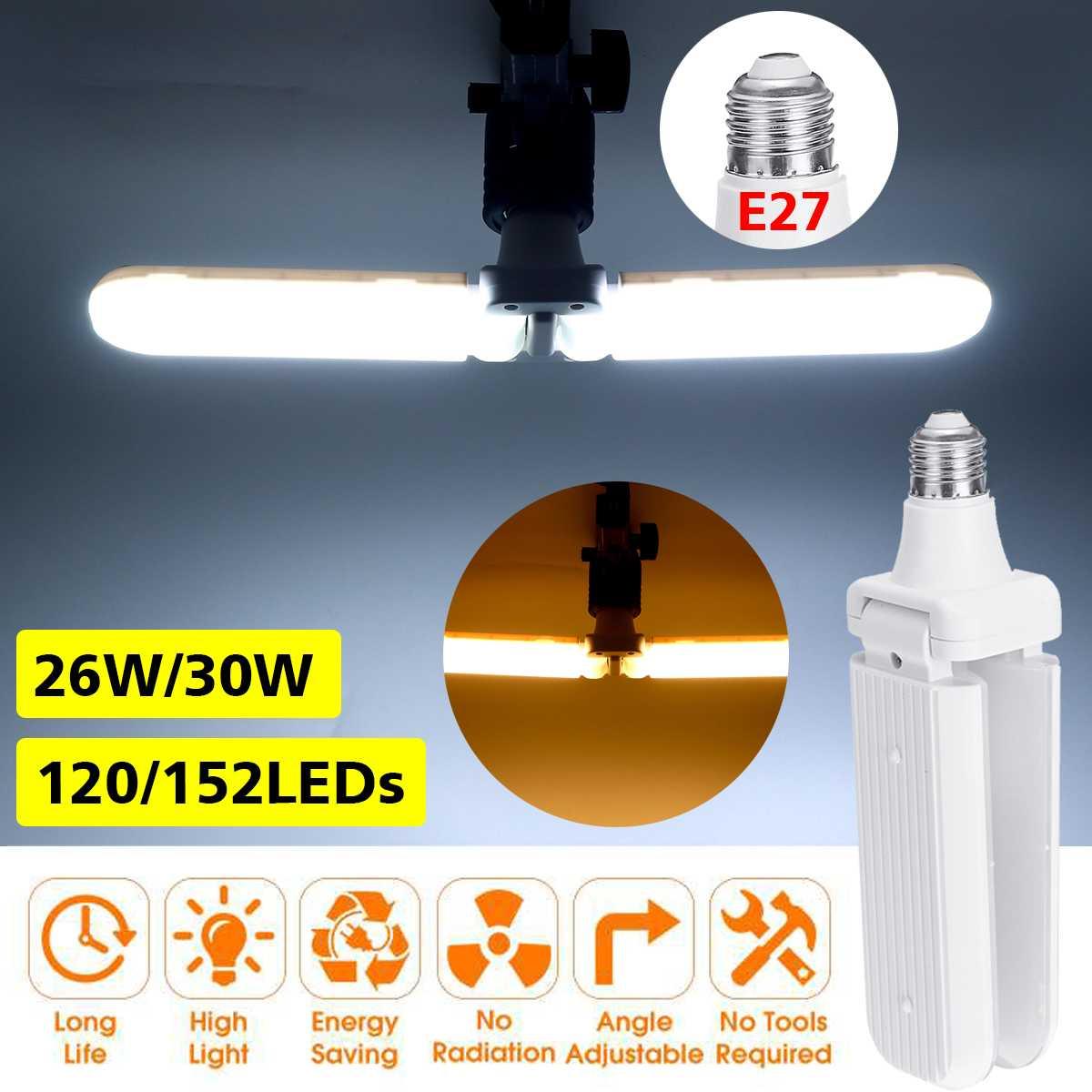 E27 30W LED Folding Garage Lamp High Brightness Constant Current Light Bulb Neu