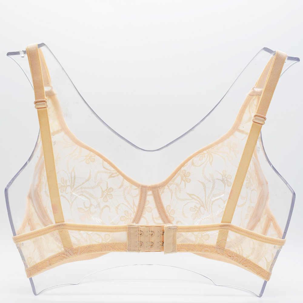 Grande taille Sexy dentelle soutiens-gorge pour femmes à armatures BH creux soutien-gorge Bralette femmes sous-vêtements broderie délicate Lingerie brassière