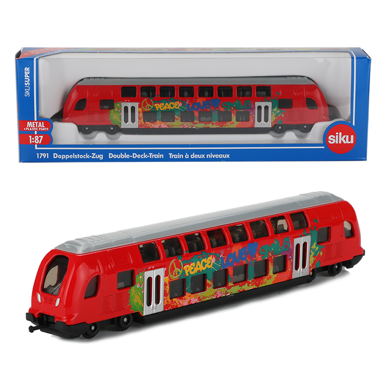 Siku 1:87 Alloy Train Model Toy Double Decker Bus Models Tram High-Speed Rail Car Toys For Children Adult Collection(China)