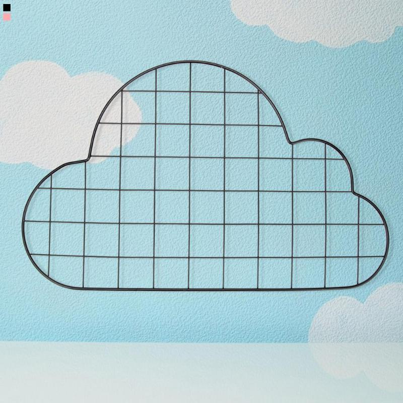 Tieyi Lattice Frame Wall Decoration Girl's Heart Room Layout Elegant And Beautiful Display Frame Cloud Shape Grid Photo Wall
