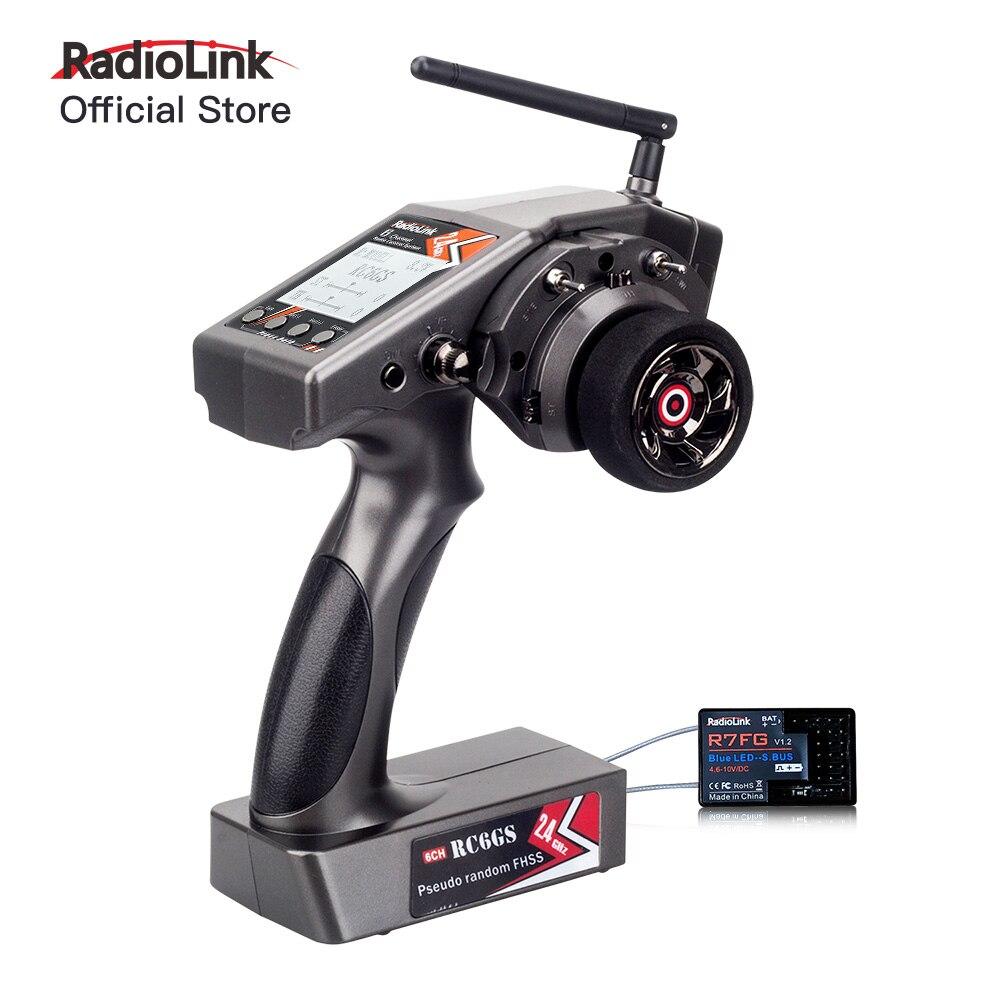 Radiolink RC6GS 6CH Radio Transmitter 2.4g with R7FG Gyro Receiver FPV Remote Controller for RC Crawler Car Boat (600m)