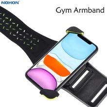 Nohon טלפון Armband עבור iPhone 11 פרו מקסימום ספורט סרטי זרוע אוניברסלי טלפון מחזיק עבור ריצה זרוע להקות עבור 4 6.5 אינץ טלפונים סלולריים