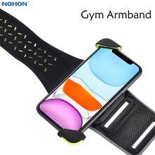Opaska na telefon Nohon dla iPhone 11 Pro Max Sport opaska uniwersalny uchwyt na telefon do biegania opaski na 4 6.5 cala telefony komórkowe