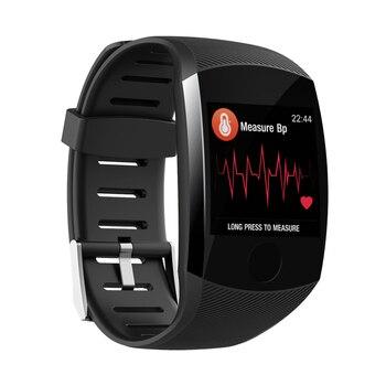 Q11 relógio inteligente à prova doled água grande tela de toque oled mensagem freqüência cardíaca tempo banda inteligente fitnes