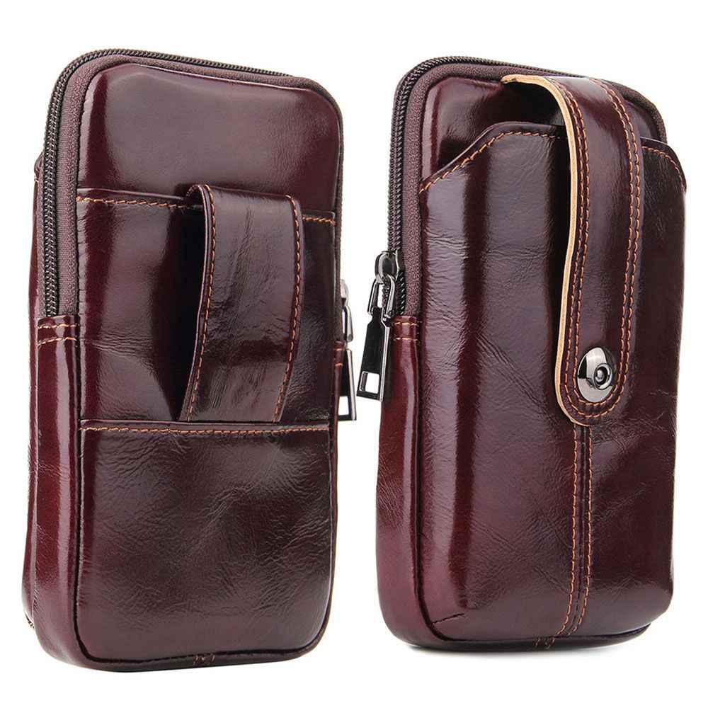 """FLOVEME portefeuille en cuir véritable étui pour iPhone 11 couverture arrière taille sac de téléphone pour iPhone 7 11 Pro X XR 6 6S 7 8 Plus 6.3 """"pouces"""