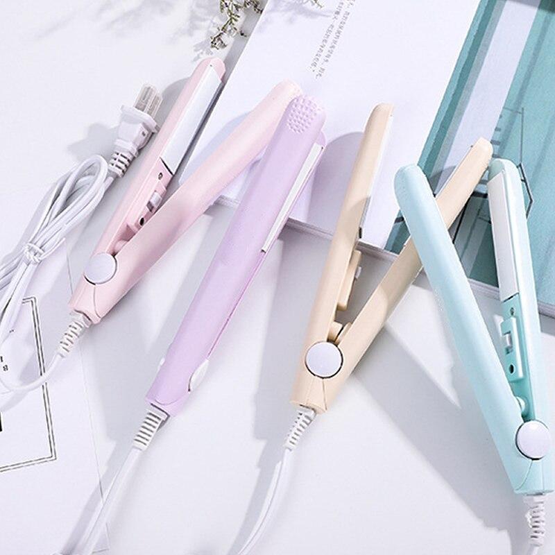 Curling Iron Mini Hair Straightener Iron Ceramic Straightening  Styling Tools Hair Curler Flat Iron Beard Straightener