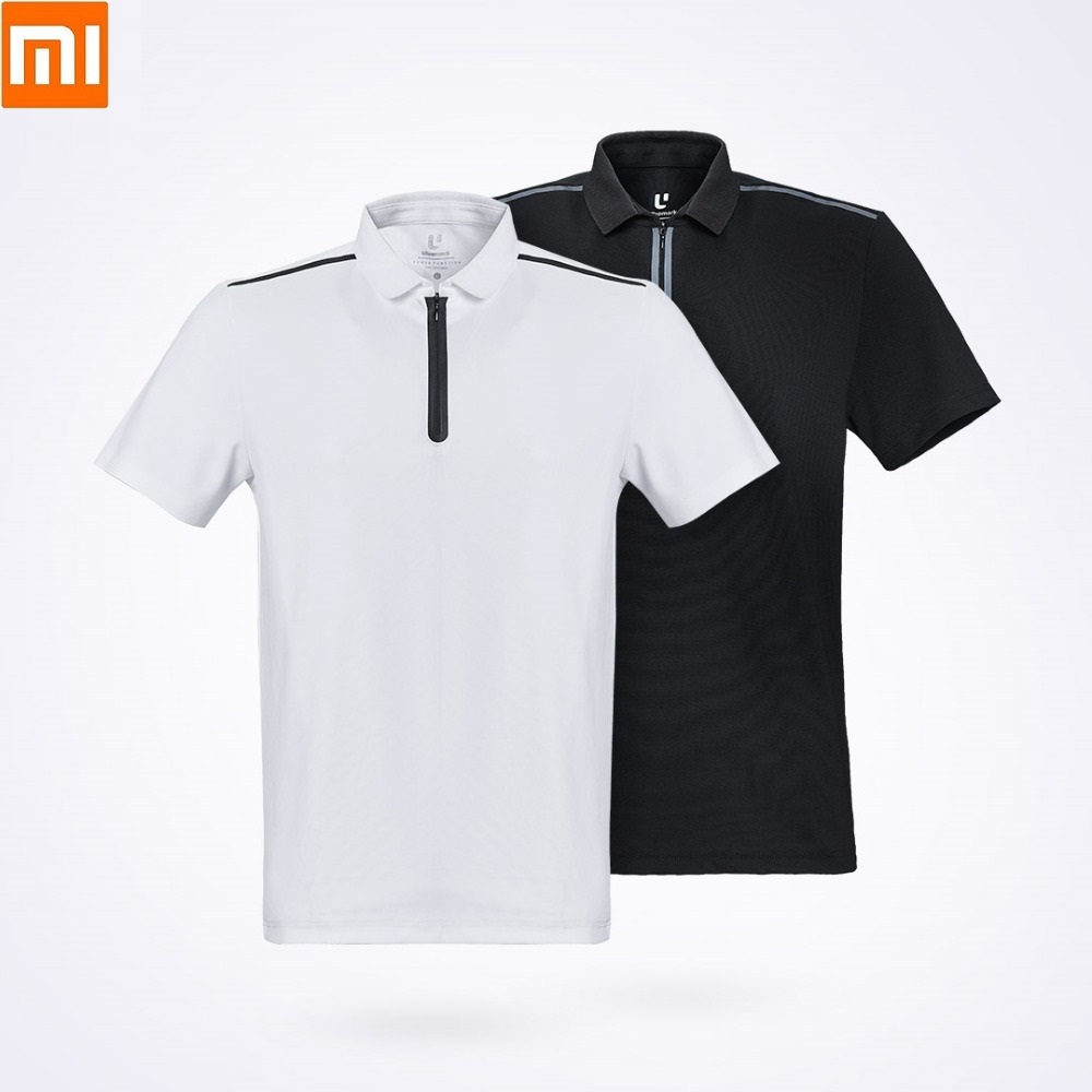 Xiaomi ULEEMARK Men's Fashion Function Sports POLO Shirt Breathable  Washable YKK Zipper Lapel Short Sleeve