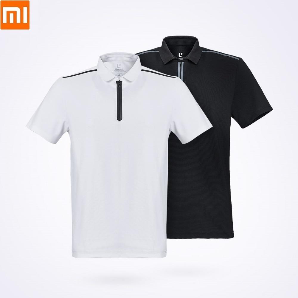 Xiaomi ULEEMARK Men's Fashion Function Sports POLO Shirt Breathable  Washable YKK Zipper Lapel Short Sleeve