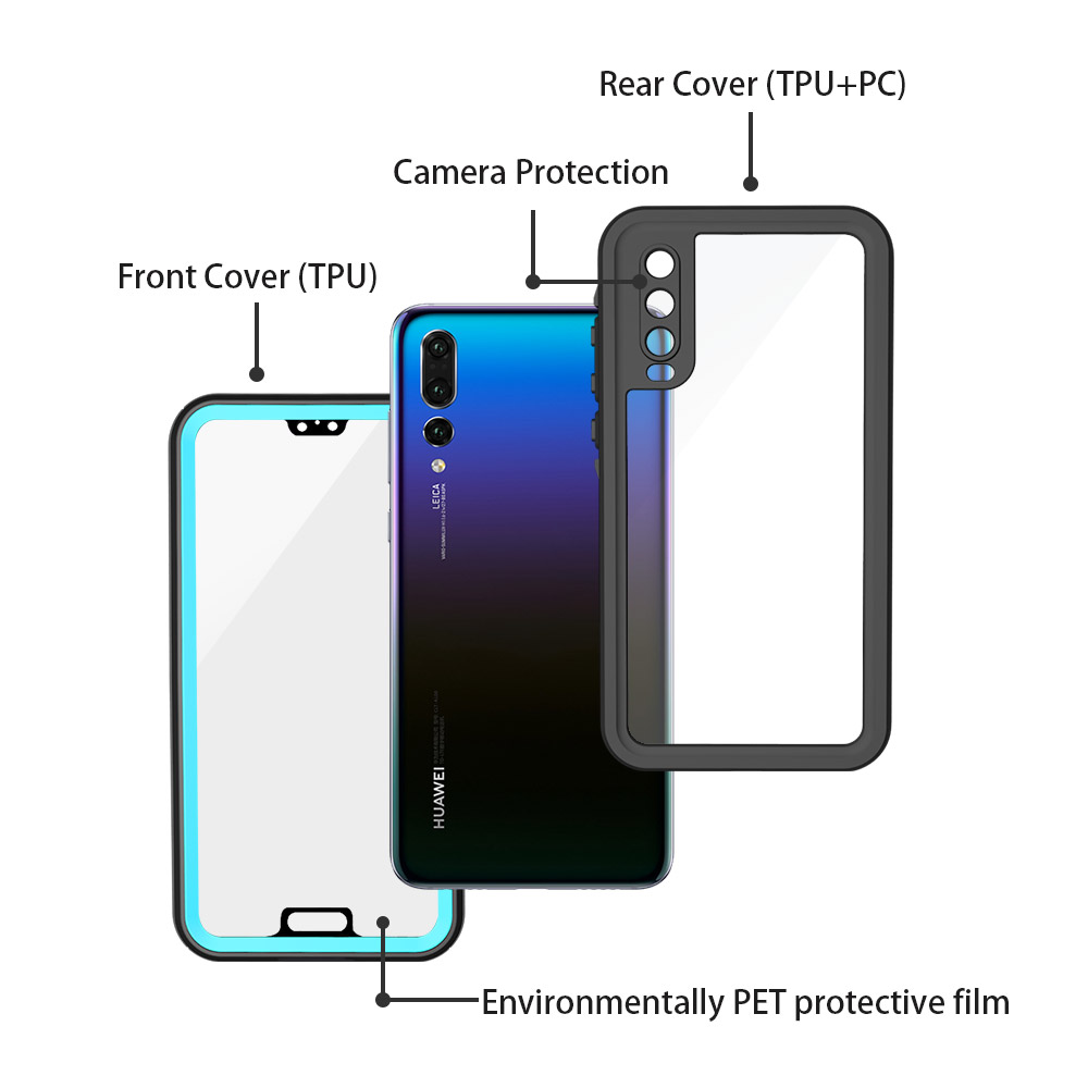 Image 5 - SHELLBOX Waterproof Case For Huawei P20/P20 Pro/P20 Lite/Mate 20 Pro Swimming Cover Case Phone Coque Water proof Phone CasesFitted Cases   -