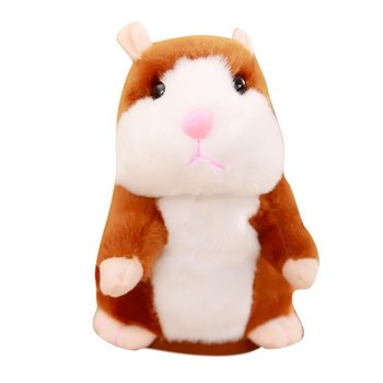 Douyin Celebrity Style Toy Talking Small Hamster Electric Plush Toy Will Walk Will Metaphone Rat hamster ball electric toy plush hamster electric toys scroll walk little toy animal for children gift electronic pets toy