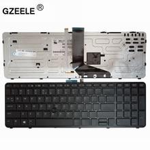 GZEELE NEW English laptop backlit keyboard FOR HP for ZBOOK 15 17 G1 G2 PK130TK1A00 SK7123BL US black Frame