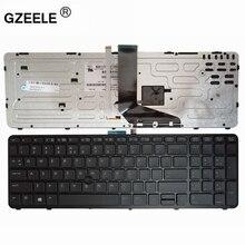 Gzeele 新英語ノートパソコンのバックライトキーボード用の hp zbook 15 17 G1 G2 PK130TK1A00 SK7123BL 米国ブラックフレーム