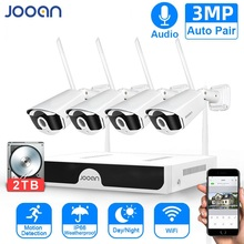 CCTV System Wireless Surveillance System Kit 3MP Home Security Camera System Outdoor WIFI Cameras Set Video Audio Recording