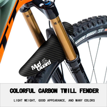 hot sale bike fenders Carbon twill MTB mudguard Colorful front Mud Guard rear bicycle wings for road accessories