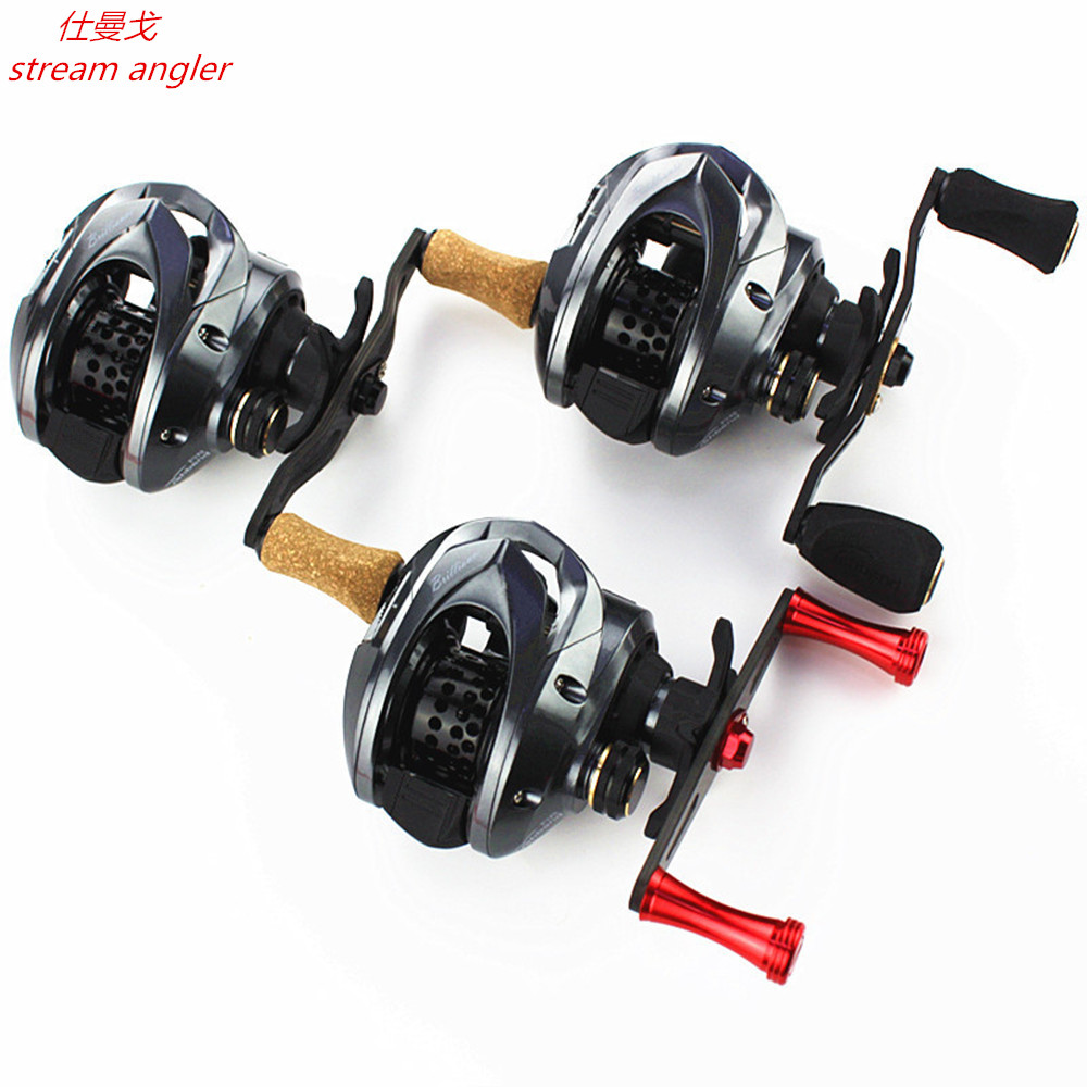 Lighter Carbon Baitcasting Wheel Lure Water Drop Reel 160g Good At Throwing Small Bait 7.2:1 Improved Gh100 Upgrade