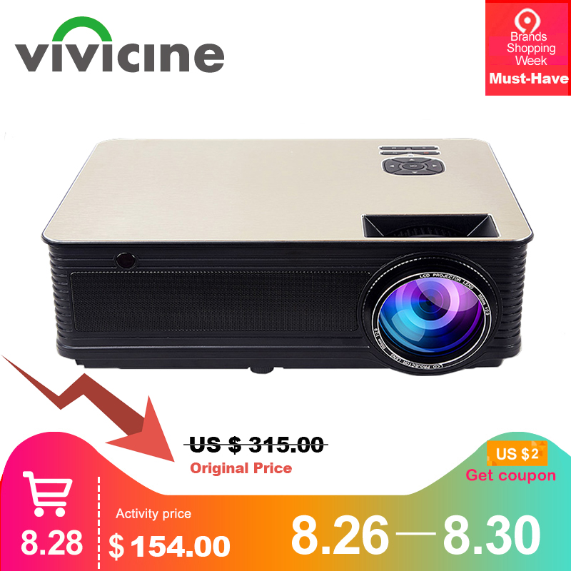 VIVICINE Home Theater HD Projector 5500Lumens,Optional Android 7.1 WiFi Bluetooth,Support 1080p LED Video Game Projector Beamer Проектор