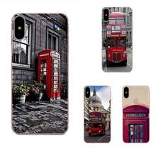 Soft Silicone Case For Galaxy Alpha Core Note 2 3 4 S2 A10 A20 A20E A30 A40 A50 A60 A70 M10 M20 M30 London Bus England Telephone(China)