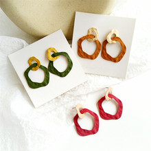 Women earrings fashion irregular Geometric retro refined metal big Birthday party wholesale