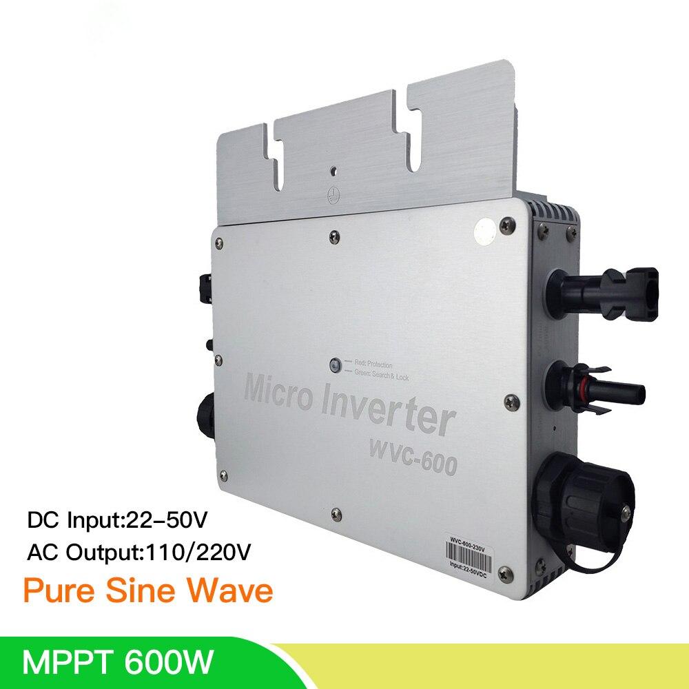 wvc600 micro inversor solar mppt onda senoidal pura 3 fase grid tie inversor placa de entrada