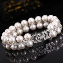 925 стерлингового серебра браслеты браслет из натурального жемчуга