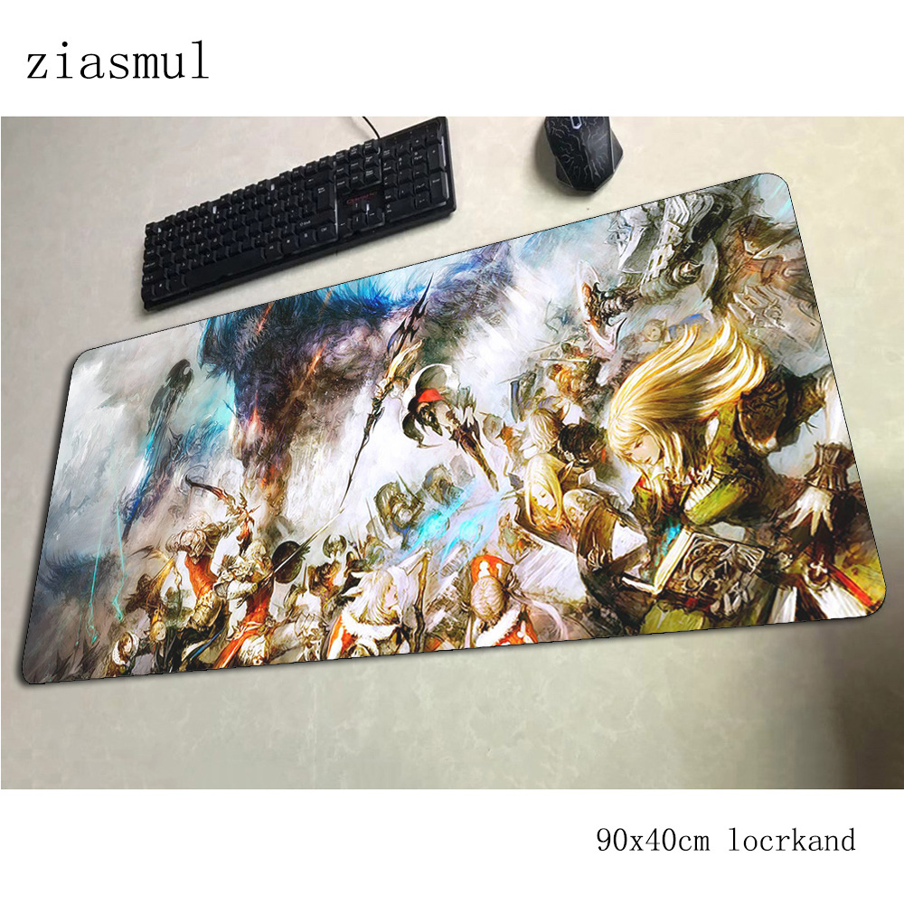 final fantasy xiv padmouse 900x400x3mm gaming mousepad game <font><b>xl</b></font> <font><b>mouse</b></font> <font><b>pad</b></font> gamer computer desk Kawaii mat notbook mousemat pc image