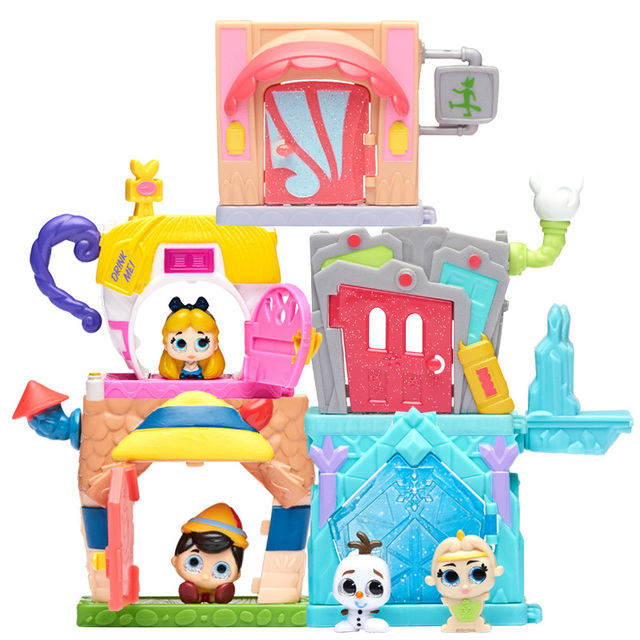 Disney Doorables Frozen Elsa Olal Mickey Minnie Judy Pinocchio Rapunzel Alice Snow White Belle Princess Blind Box Girl Kids Toys 3