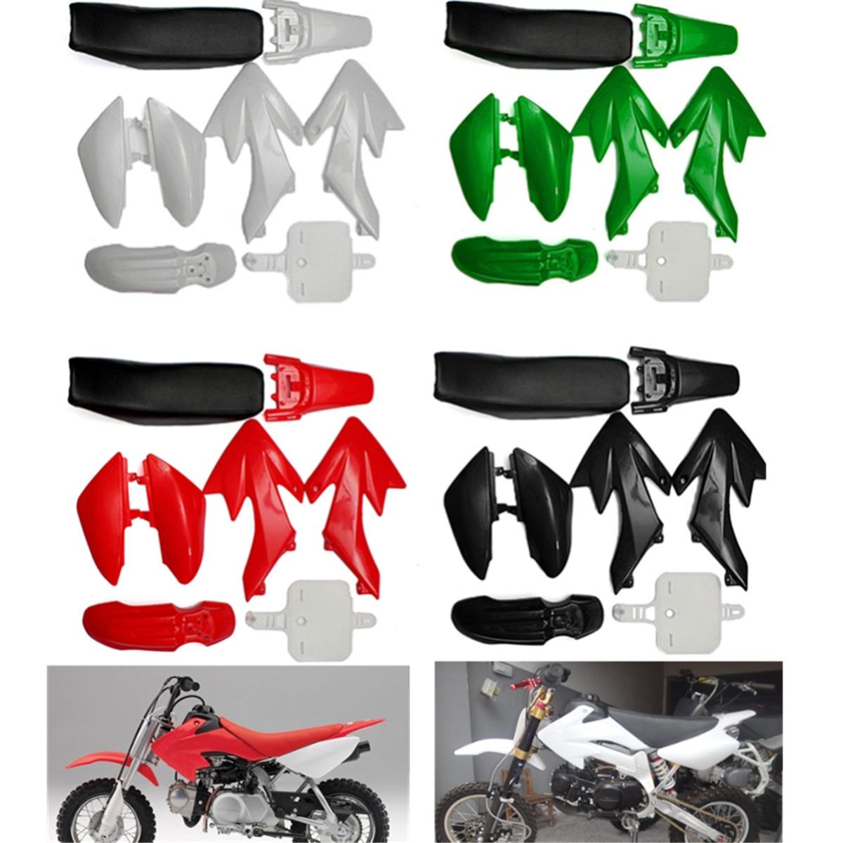 Комплект пластиковых 4-тактных брызговиков для питбайка CRF50, 4 цвета, 50 куб. См, 110 куб. См, 125 куб. См, 140 куб. См, запчасти для мотоциклетных аксес...