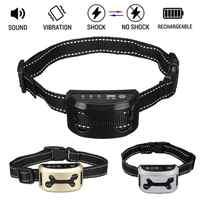 Intelligent Dog Anti Bark Collar Ultrasonic Rechargeable Training Collars Waterproof Vibration Dog Stop Barking Control Bark Collar