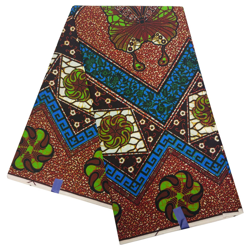 Veritable Nigerian Wax African Ankara Wax Printed Fabric Butterfly Print Fabric For Dresses