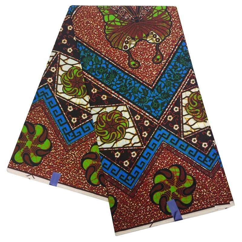 Veritable Nigerian Wax African Ankara Wax Printed Fabric Butterfly Print Fabric For Dresses