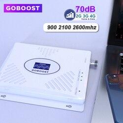 Wzmacniacz komórkowy 70db Triband 2g 3g 4g wzmacniacz sygnału gsm 900 2100 2600 wzmacniacz telefonu komórkowego LTE 4g DCS UMTS 3g wzmacniacz 2g