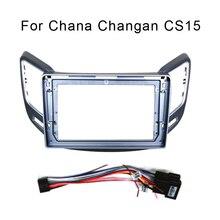 9 zoll Für Chana Changan CS15 2016 18 Auto Fascia Navigation Rahmen Dash Kit Universal Android Multimedia Player DVD spieler platte
