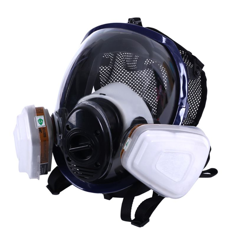 Facepiece Respirator Kits 6800 Full Face Mask For Painting Spraying Gas Pesticide Chemical Fire Protection