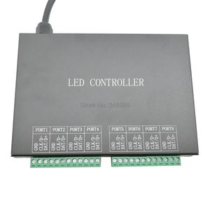 Image 5 - H801RC 8 Ports Slave LED Pixel Controller Work with Computer Network or Marster Controller(H803TV or H803TC) Drive 8192 Pixels