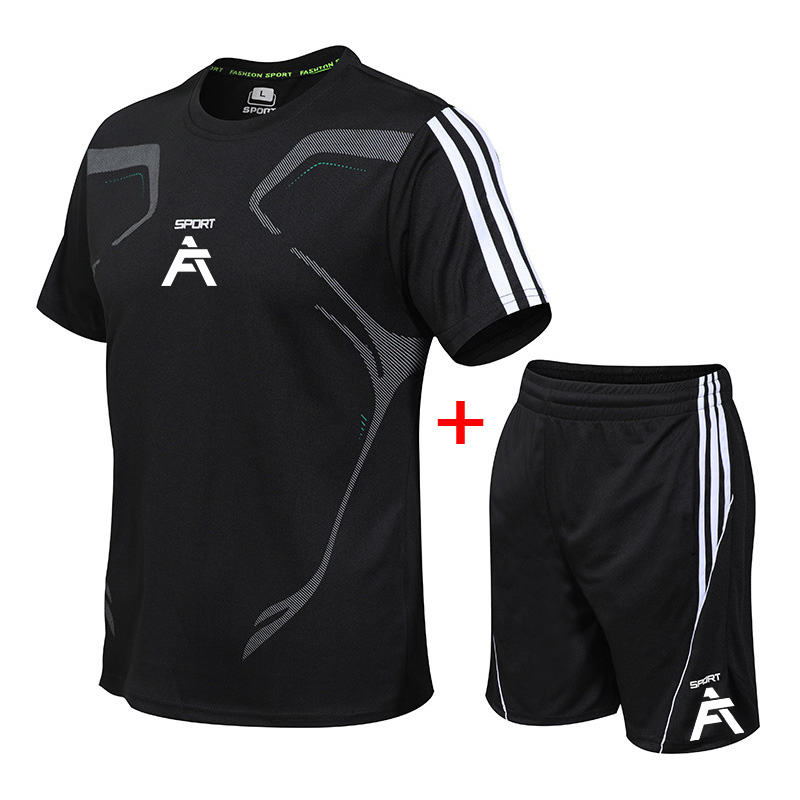 running - Mens Sports Suit Breathable Jersey Set Sportswear Running Jogging Suits Gym Wear Sportsman Fitness Workout Clothes Soccer Gether