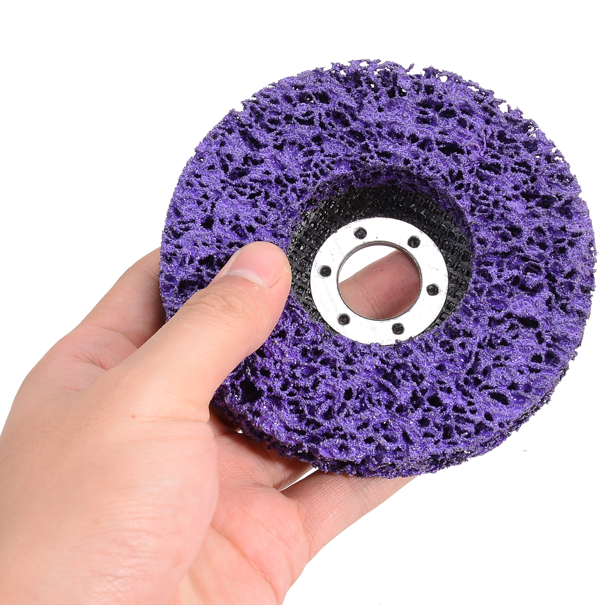 5Pcs 4.5 Inch Cleaning Strip Wheel Grinding Discs 115mm For Clean Paint Rust Grinder Remover Tools For Angle Grinder