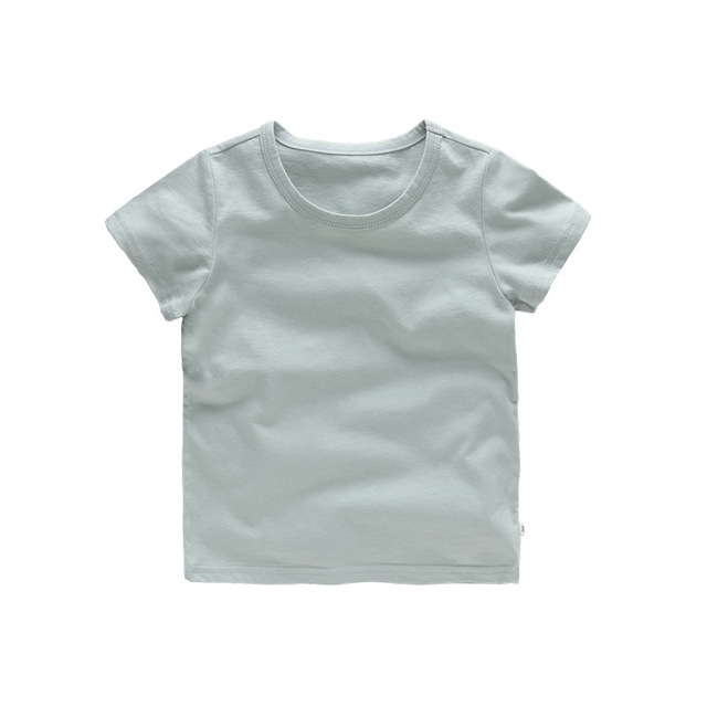 VIDMID Kids Tops Baby Boys Cotton Short Sleeve t-shirt Tees girls Children Casual candy color clothes  boys girls tees 4018  01 5