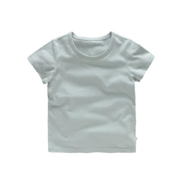 VIDMID Bambini Magliette e camicette Del Bambino Dei Ragazzi del Cotone Manica Corta t-shirt Magliette delle ragazze Dei Bambini Casual di colore della caramella vestiti del bambino del bambino delle ragazze dei ragazzi Magliette 4018 5