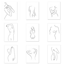 Abstract Girl Body Diamond Painting DIY 5D Art Sexy Women Wall Decor Canvas Mosaic Nordic 3D Pictures