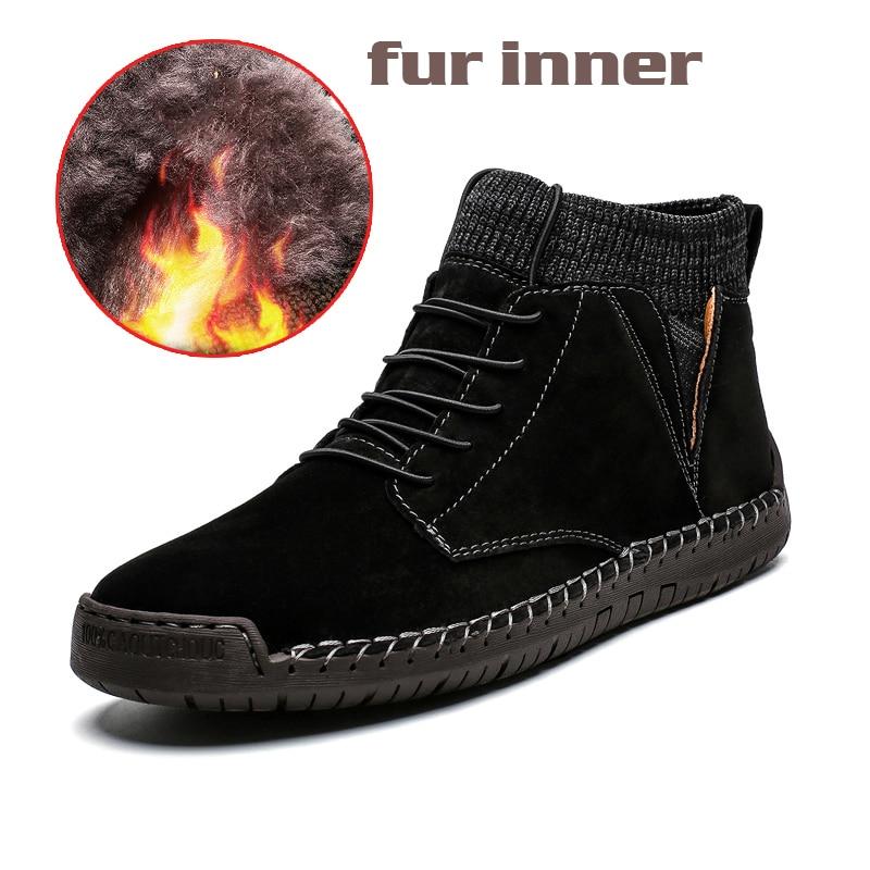 Black fur casual shoes boots