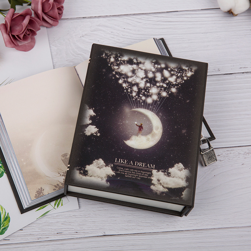 Cute Locked Notebook Good Looking Diary Functional Planner Diary Book Diary Stationery Gift Box Packaging Like Dream