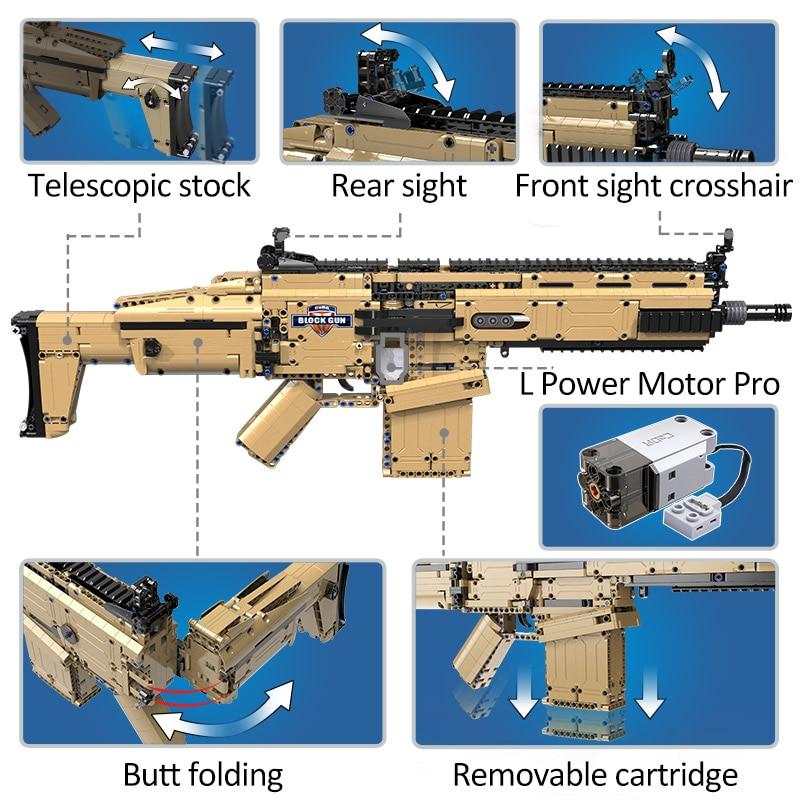 Cada 1:1 SWAT Military WW2 Weapon Assault Rifle