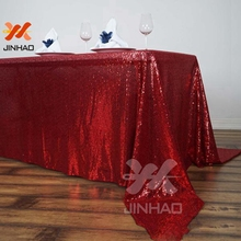The Beautiful Glitter Fuchsia sequin Table Cloth For Wedding Event Party