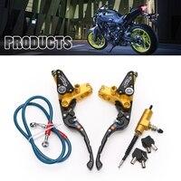 Motorcycle Universal Brake Pump Lever Adjustable Handle Hydraulic clutch Pump Master Cylinder Racing For Yamaha Ducati Suzuki