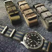 Bracelet de montre ceinture de sécurité 20mm 22mm à chevrons de qualité supérieure bracelet en Nylon otan pour montre militaire